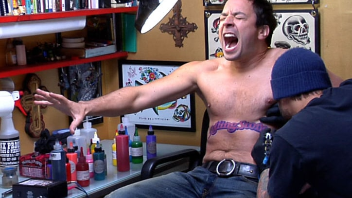 Jimmy Fallon The late night host gets tattooed, talks Neil Young