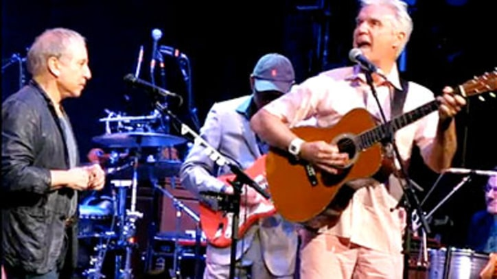 Paul Simon and David Byrne Perform 'You Can Call Me Al' in NYC