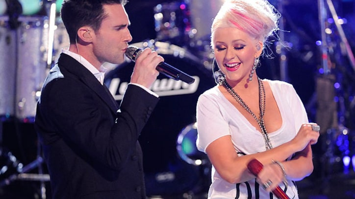 Maroon 5 and Christina Aguilera Debut 'Moves Like Jagger' on 'The Voice'