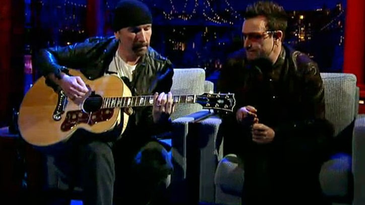 U2 'Stuck in A Moment' on 'Letterman'