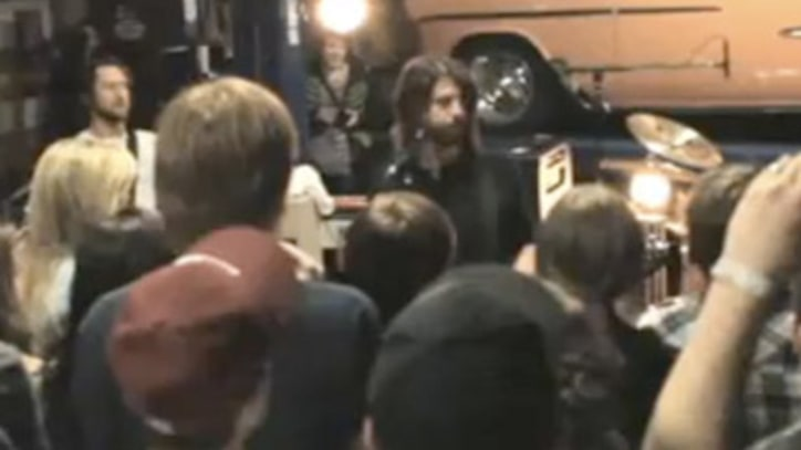 Foo Fighters Rock out in a fan's garage