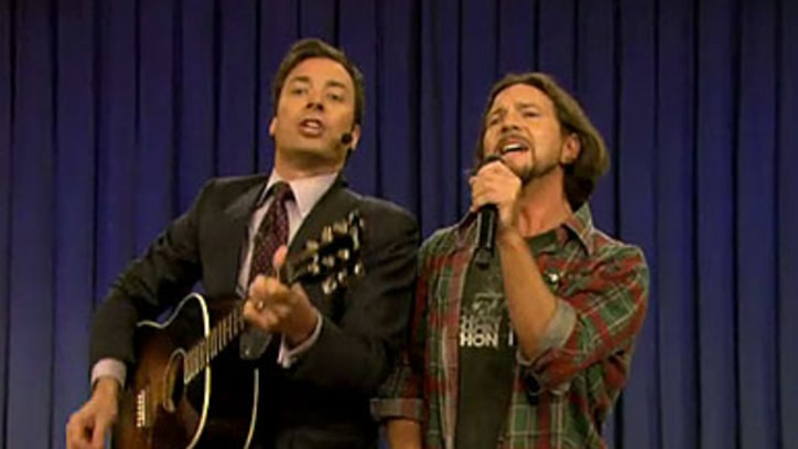 Eddie Vedder and Jimmy Fallon 'Balls in Your Mouth'