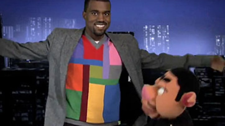 Kanye West Footage from Kanye's pervy puppet show