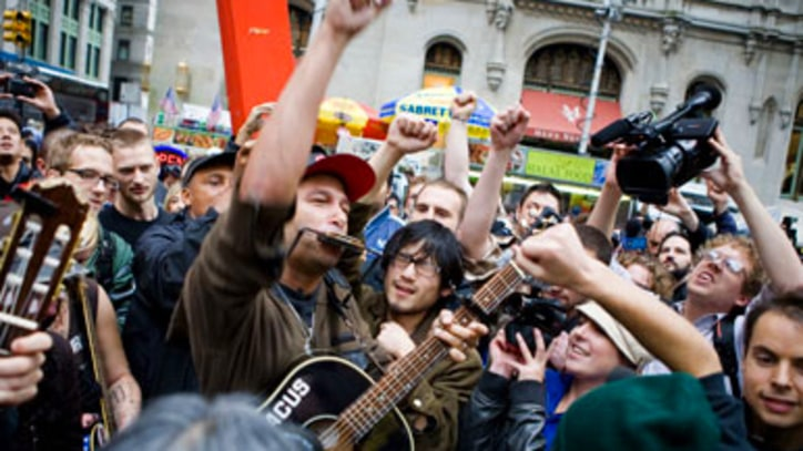 Tom Morello 'The Fabled City' at Occupy Wall Street
