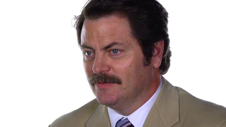 Nick Offerman Takes on Rob Sheffield in a glare-off
