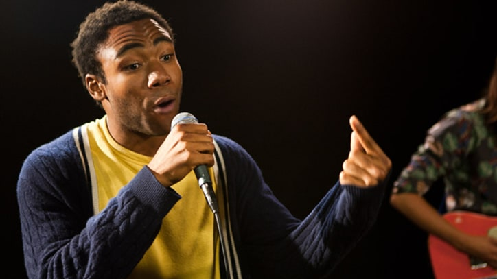 Childish Gambino Donald Glover performs new rap tracks