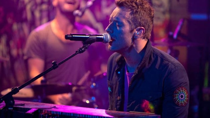 Coldplay 'Up In Flames' on 'Colbert Report'