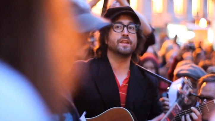 Rufus Wainwright and Sean Lennon Cover Madonna at Occupy Wall Street
