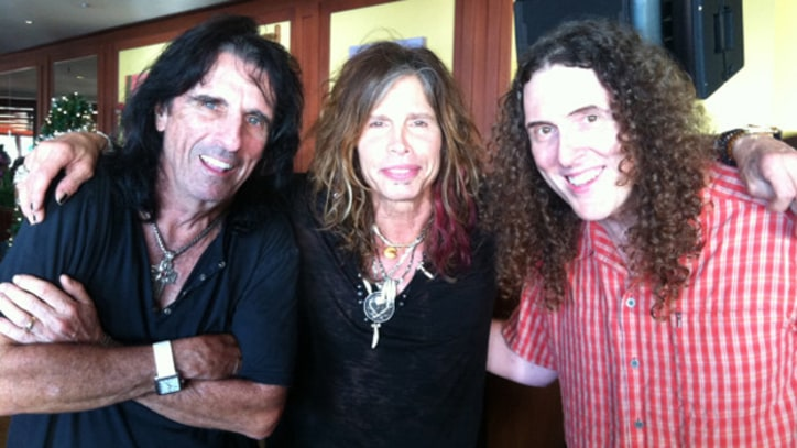 Weird Al, Steven Tyler and Alice Cooper Play 'Come Together' on New Year's Eve