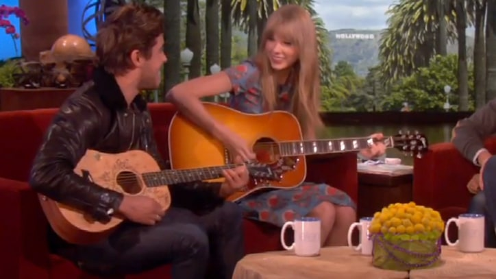 Taylor Swift and Zac Efron Play 'Pumped Up Kicks' on 'Ellen'