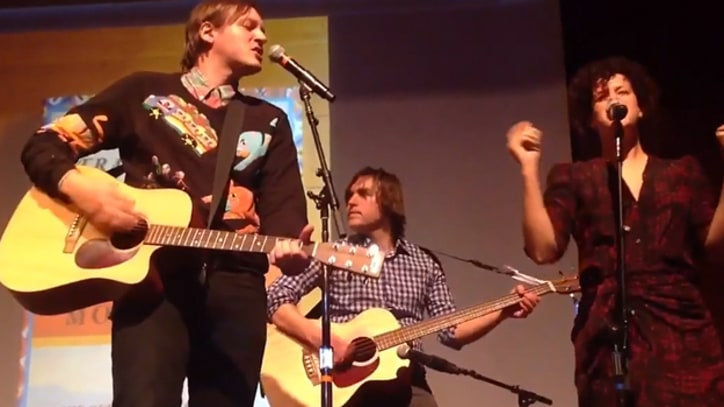Arcade Fire Perform at Austin lecture