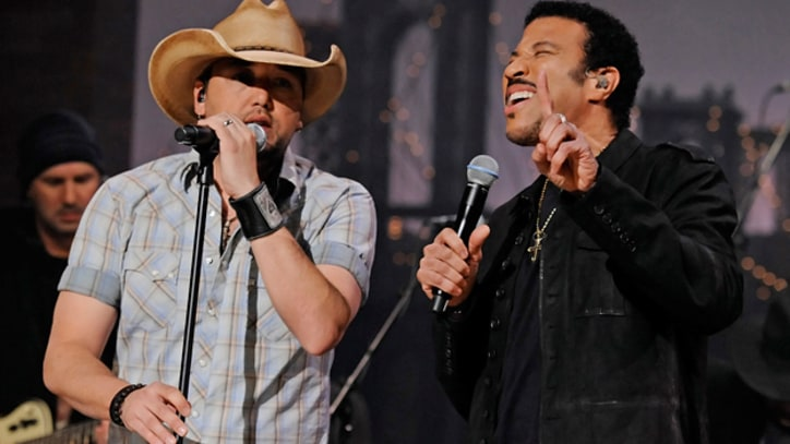 Lionel Richie and Jason Aldean 'Say You, Say Me' on 'Letterman'
