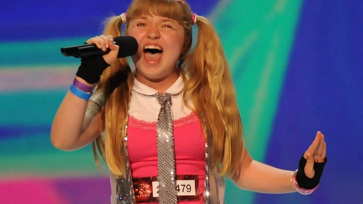 Simon Cowell Speechless Over 'X Factor' 'Annie' Wannabe