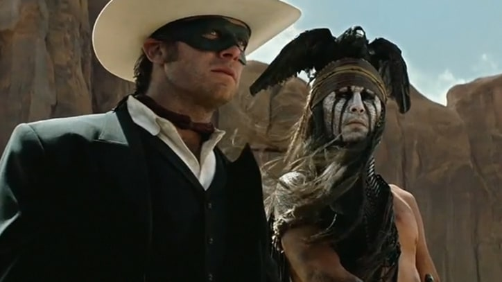 Johnny Depp Dons Warpaint in 'Lone Ranger' Trailer