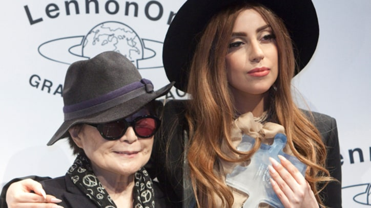 Lady Gaga Calls for Compassion at LennonOno Grant for Peace Ceremony