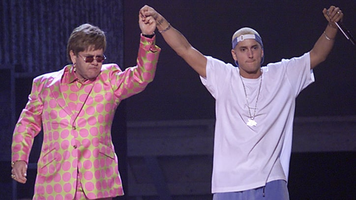 Flashback: Eminem and Elton John Join Forces at the 2001 Grammys