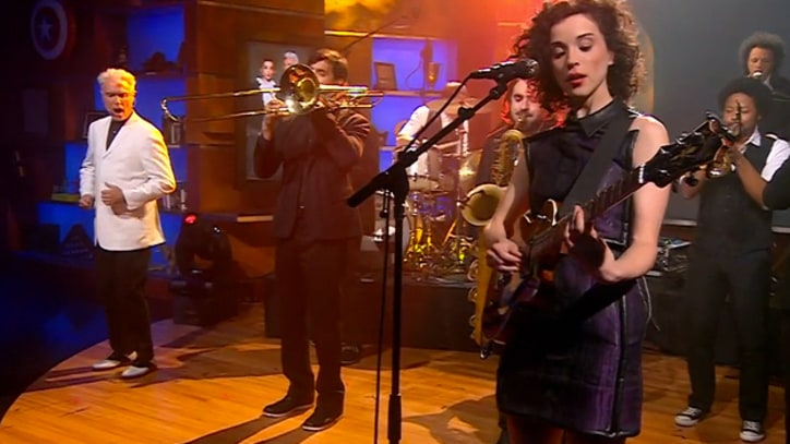 David Byrne and St. Vincent Bring the Funk to 'Colbert'