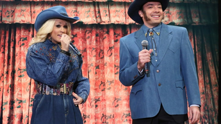 Carrie Underwood and Jimmy Fallon Cover Rap Songs, Country-Style