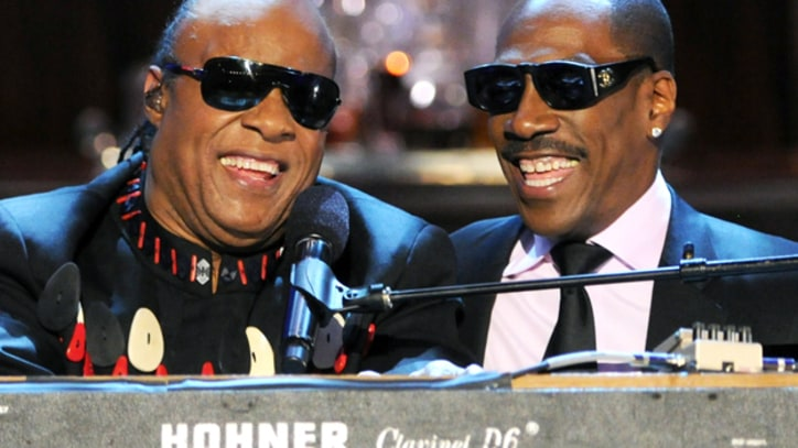 Stevie Wonder and Eddie Murphy Jam on 'Higher Ground'
