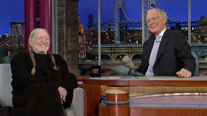 Willie Nelson Talks Writing Three Hits in One Road Trip on 'Letterman'