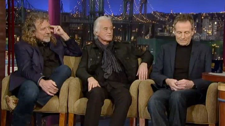 Led Zeppelin Talk Kennedy Center Honors, Shirtless Aviation on 'Letterman'