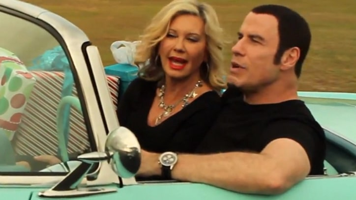 John Travolta, Olivia Newton-John 'Think You Might Like' Awkward Christmas Clip