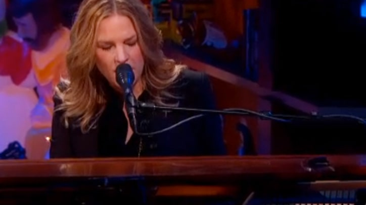 Diana Krall, Elvis Costello Make Merry With Stephen Colbert