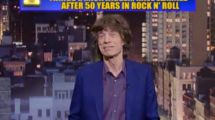 Mick Jagger Delivers Top 10 List on 'Letterman'