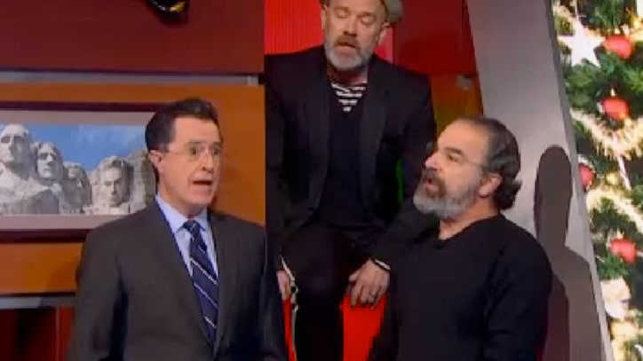 Michael Stipe, Mandy Patinkin Join 'Christmas Carol Week' on 'Colbert Report'