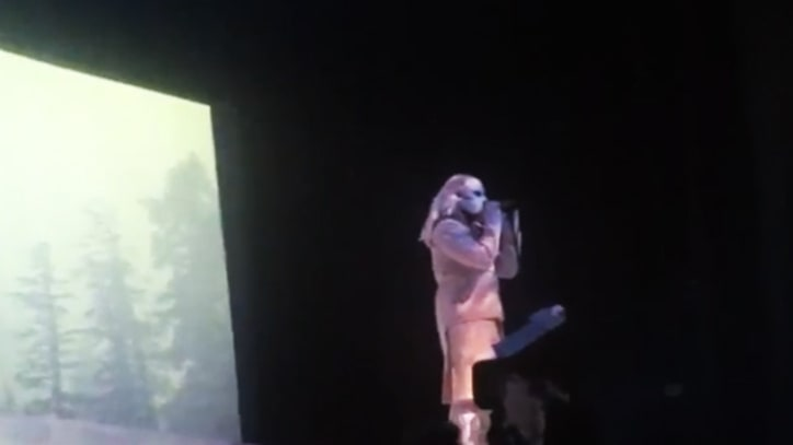 Kanye West Rocks a Yeti Mask in Atlantic City