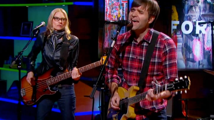 Ben Gibbard Duets With Aimee Mann on 'Colbert'