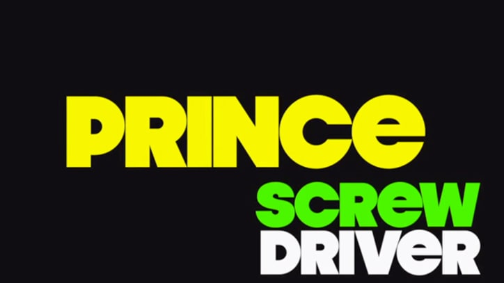 Prince Posts Clip for New Song 'Screwdriver'