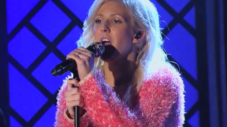 Ellie Goulding Sings Booming 'Anything Can Happen' on 'Kimmel'