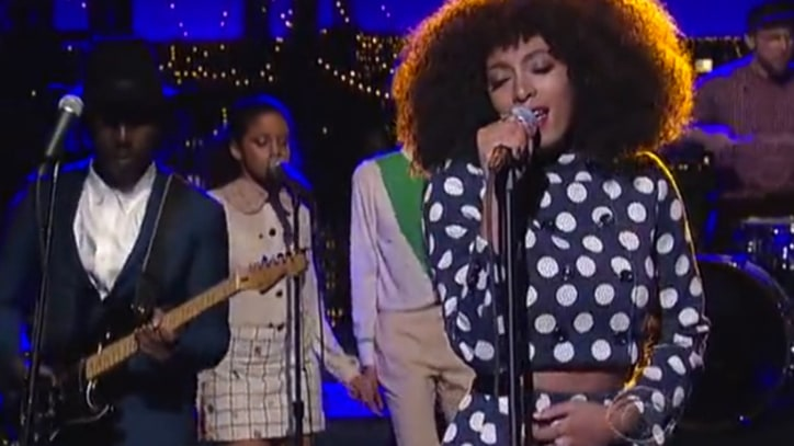Solange Shimmies Through 'Don't Let Me Down' on 'Letterman'