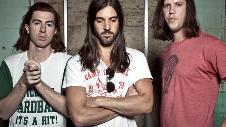 The Whigs Sling Pizza in 'Staying Alive' - Premiere