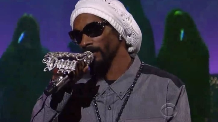 Snoop Lion Warns, 'No Guns Allowed' on 'Letterman'