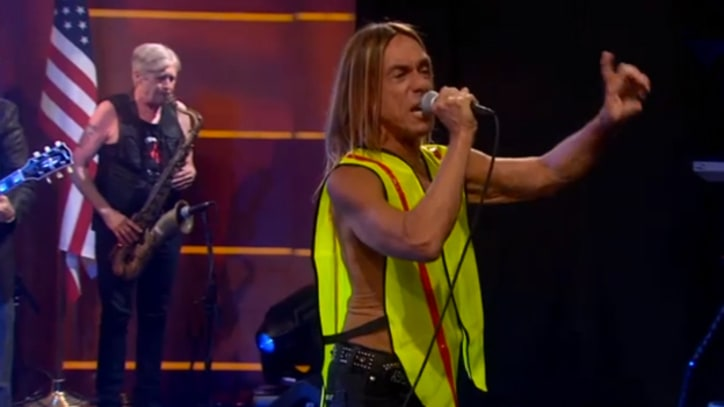 Iggy and the Stooges Pound Through 'Job' on 'Colbert'