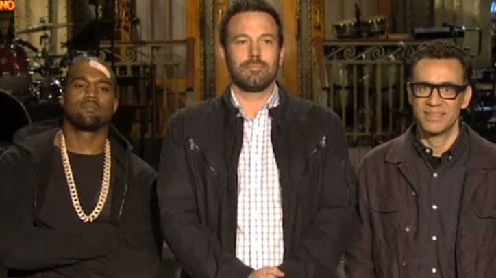 Kanye West, Ben Affleck Turn in Stone-Faced 'SNL' Teasers