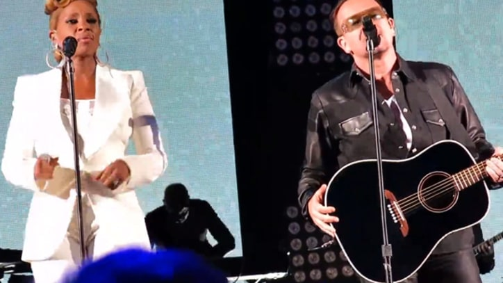 Bono and Mary J. Blige Perform 'One' at New York Benefit Concert