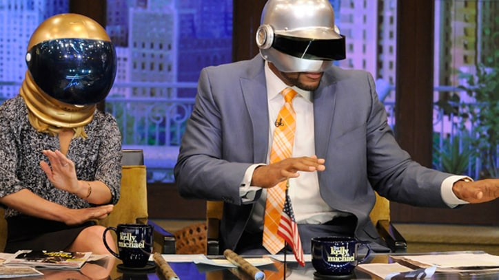 Kelly Ripa and Michael Strahan Talk 'Rolling Stone' Daft Punk Cover Story