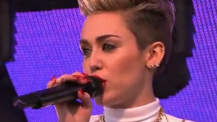 Miley Cyrus Performs 'We Can't Stop' on 'Kimmel,' Talks Weed and Snoop