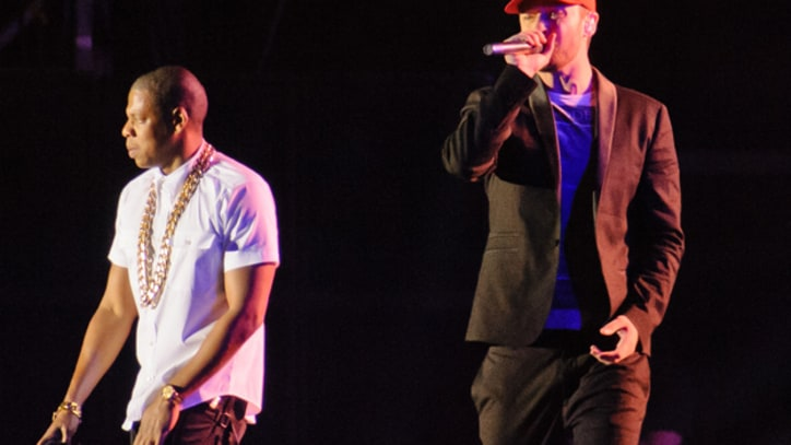 Jay-Z and Justin Timberlake Perform 'Holy Grail' at Wireless Festival