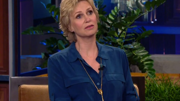 Jane Lynch Remembers Cory Monteith on 'Leno'