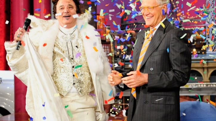 Bill Murray Takes Over 'Letterman' Dressed as Liberace