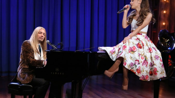 Ariana Grande and Jimmy Fallon Do Broadway Versions of Hip-Hop Songs