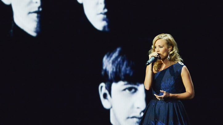 Carrie Underwood Celebrates the Beatles at the Emmys