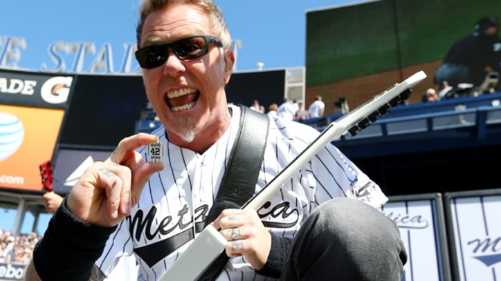 Metallica Play 'Enter Sandman' for Mariano Rivera