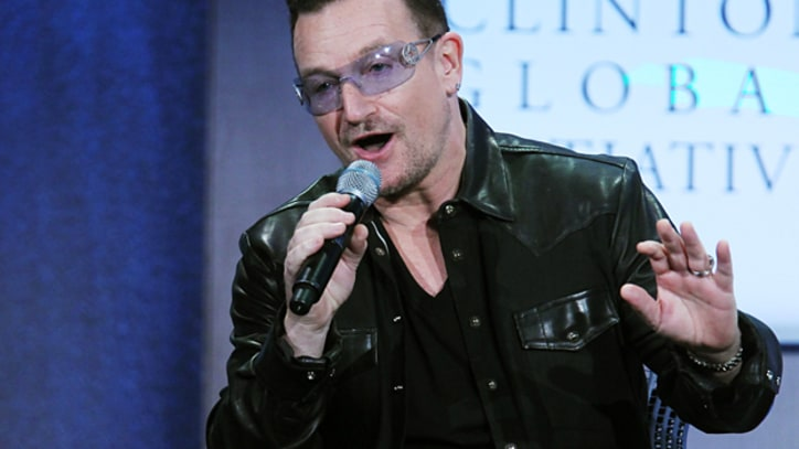 Bono Draws Laughs With Bill Clinton Impression