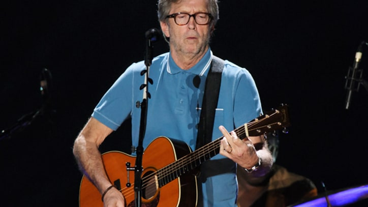 Eric Clapton Rehearses for 'Unplugged' Special