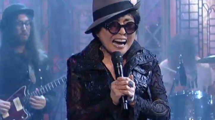 Yoko Ono, Flaming Lips Deliver Message on 'Letterman'